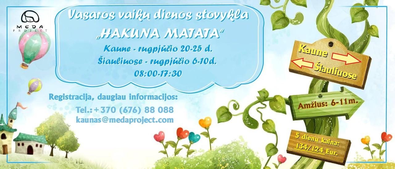 """Vaikų dienos stovykla """"Hakuna Matata"""""""