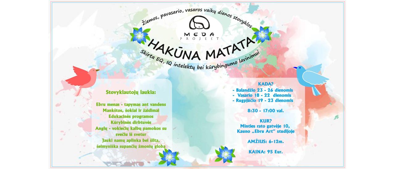 """Žiemos, pavasario ir vasaros atostogų vaikų dienos stovykla """"Hakuna Matata"""""""